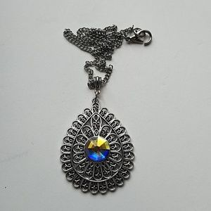 GYPSY MEDALLION DROP OPAL NECKLACE NEW